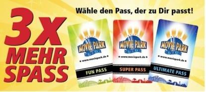 Movie Park Saisonpass 2015