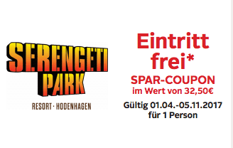 Discount coupons for serengeti